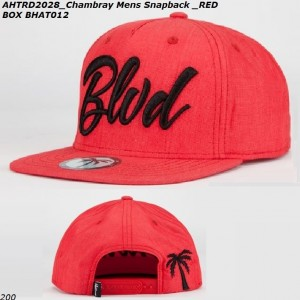 WHOLESALE-BLVD-SUPPLY-SNAPBACK-HATS-RED-CHAMBRAY
