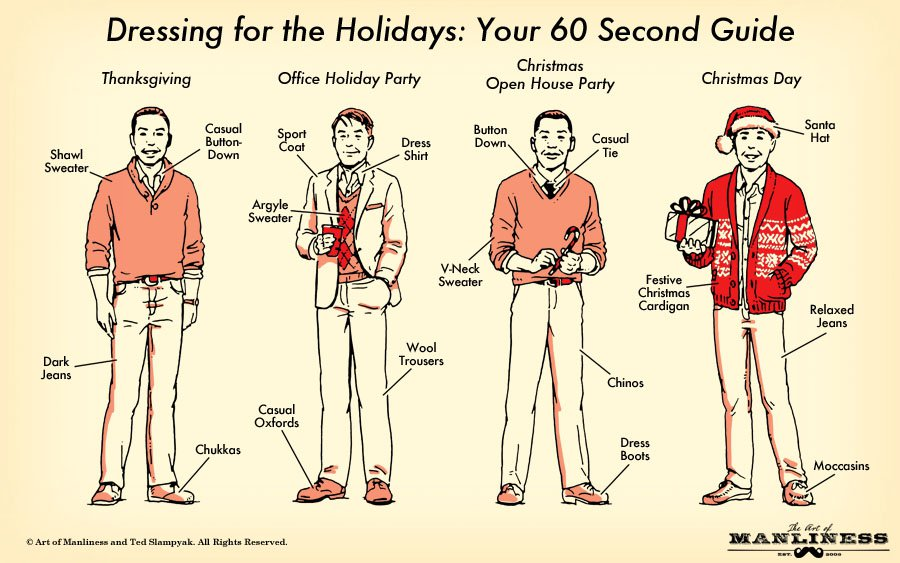 dressing for the holidays men