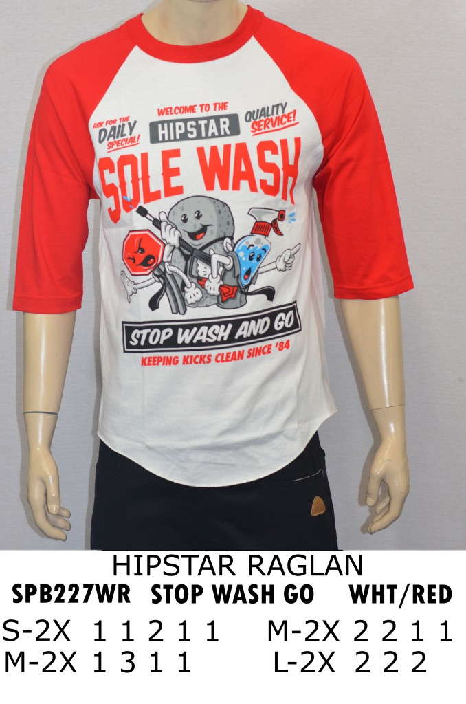 SPB227WR-WHT-RED-STOP WASH GO